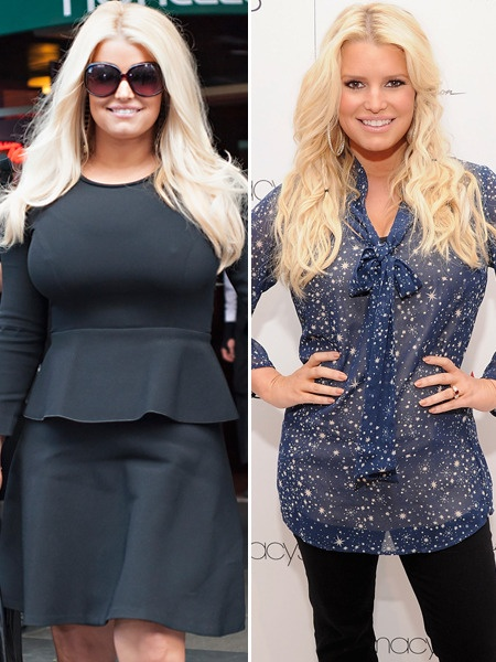 Jessica Simpson Before and After her Weight Watchers DietJessica Simpson Weight Watchers Before And After