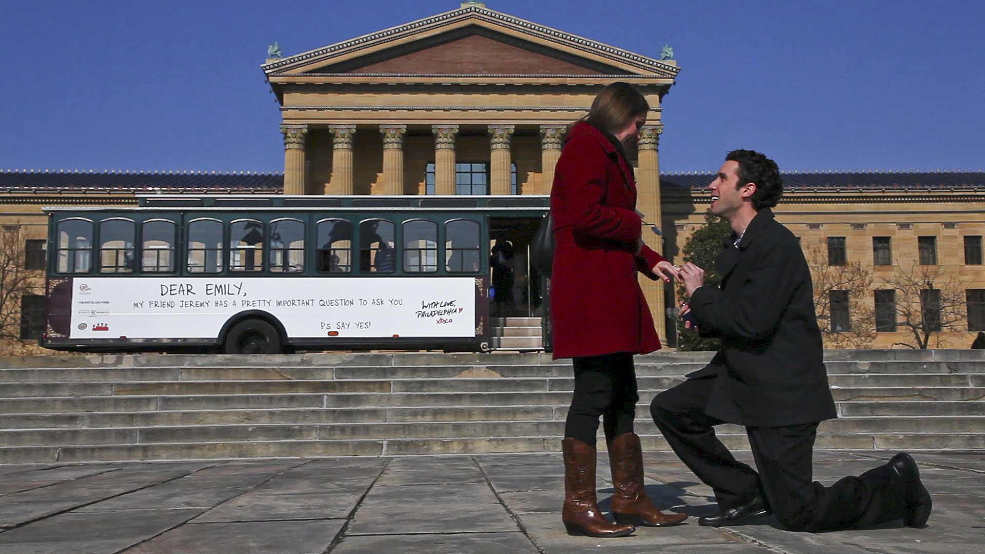 Jeremy Kaplan Proposes to Emily Schrag on Valentine's Day