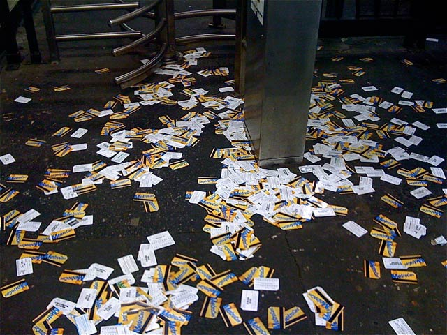 discarded metrocards
