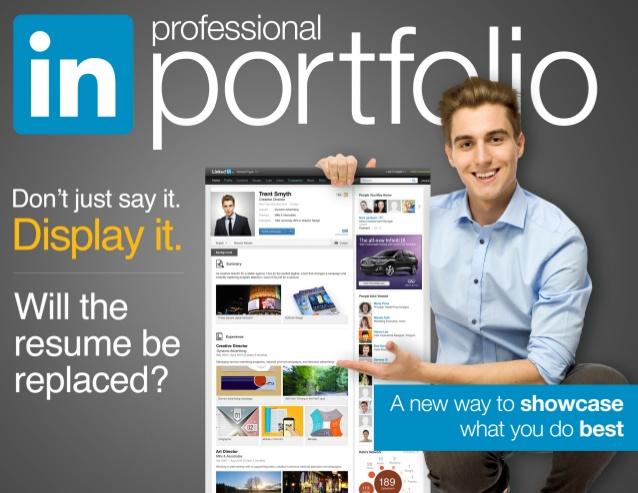 Linkedin in-profile portfolio feature