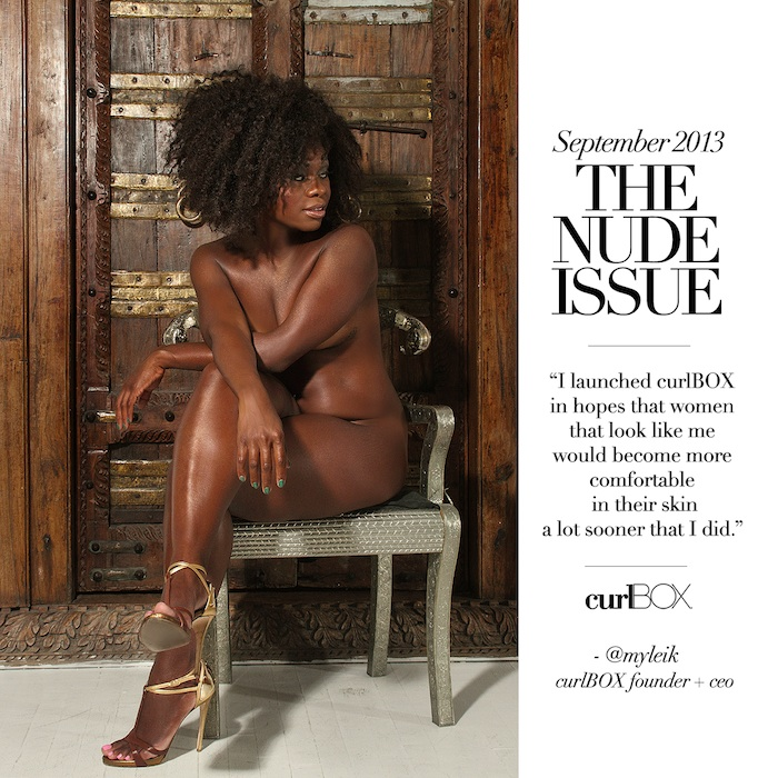 curlBOX September Issue Nude