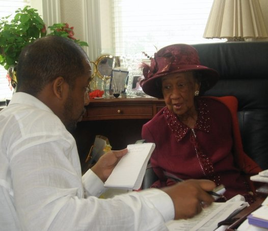 Pharoh interviewing Dr. Dorothy Height.