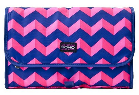 SOHO Chevron Cosmetic Bag