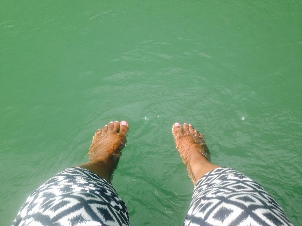Dipping into the Martha Brae River. (Credit: Sakita Holley)