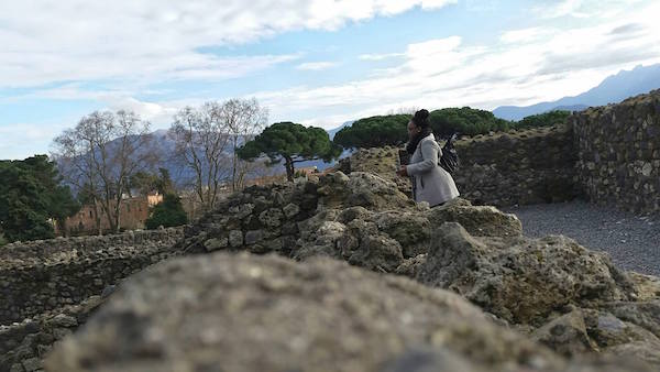 Looking out over Pompeii and taking it all in one last time. (Credit: Nyla F.)