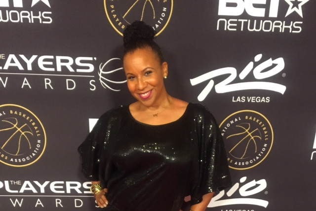 Jill at the inaugural NBA Players Awards in 2015.